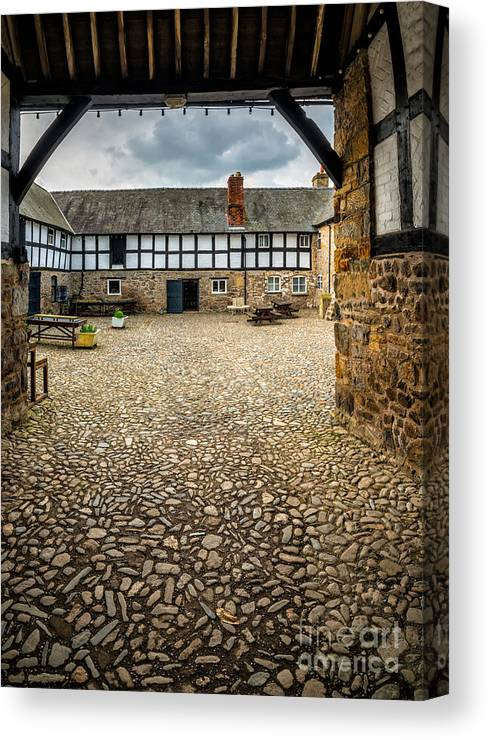 British Canvas Print featuring the photograph Old Farm by Adrian Evans