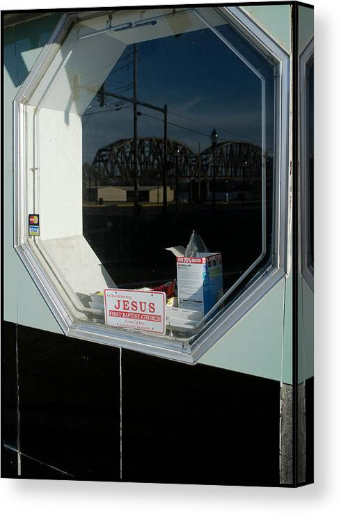 Window Canvas Print featuring the photograph Serving Jesus by David Cohron