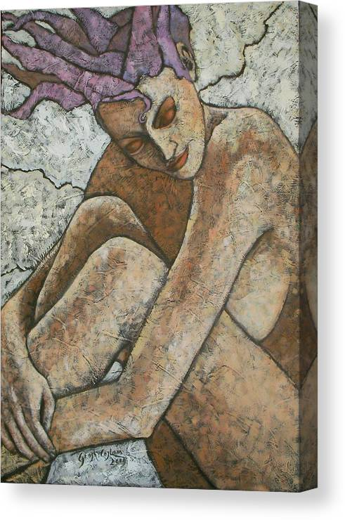 Woman Canvas Print featuring the painting Sogno by Giosi Costan