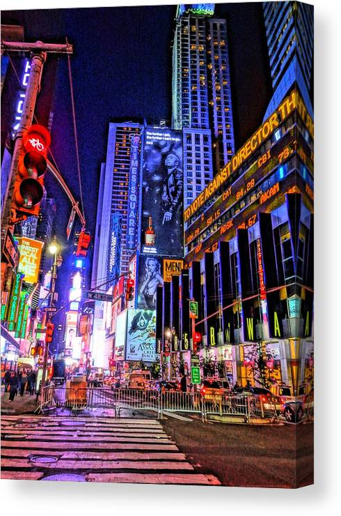Times Square Canvas Print featuring the photograph Times Square by Dan Sproul