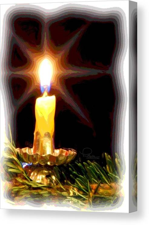 Christmas Canvas Print featuring the photograph Weihnachtskerze - Christmas Candle by Ludwig Keck