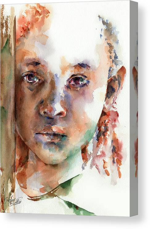 Girl Canvas Print featuring the painting Wistful by Stephie Butler