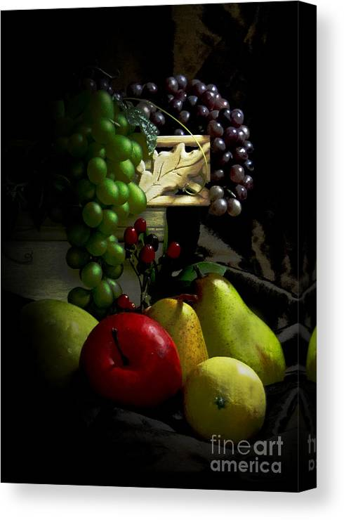 Still Life Fruits Canvas Print featuring the photograph Bodegon by Jose Luis Reyes