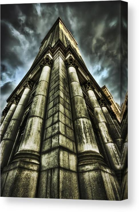City Hall Canvas Print featuring the photograph Break On Through by Evelina Kremsdorf