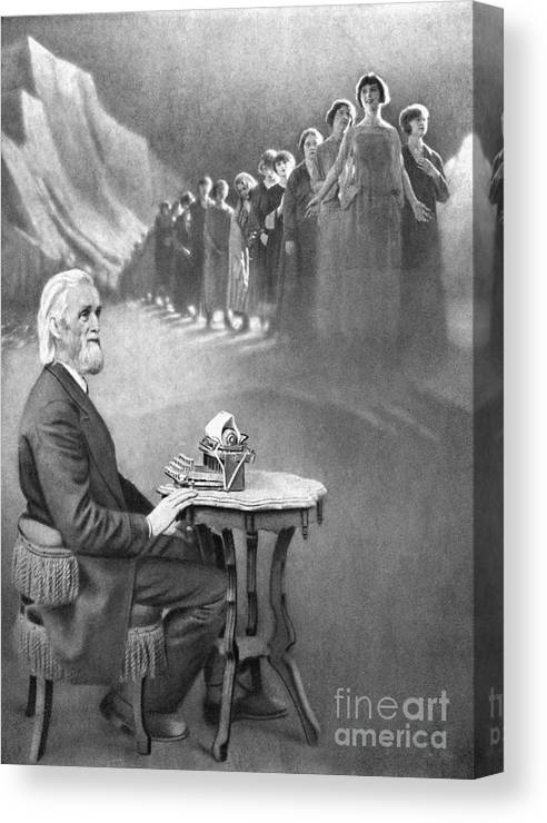 History Canvas Print featuring the photograph Christopher Sholes, American Inventor by Science Source