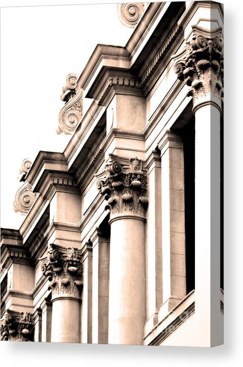 Architecture Elements Canvas Print featuring the photograph Columns by Jose Luis Reyes