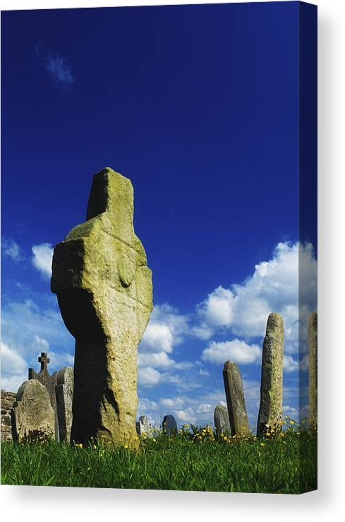 Blue Sky Canvas Print featuring the photograph Errigal Keerogue, St Kierans Church by The Irish Image Collection