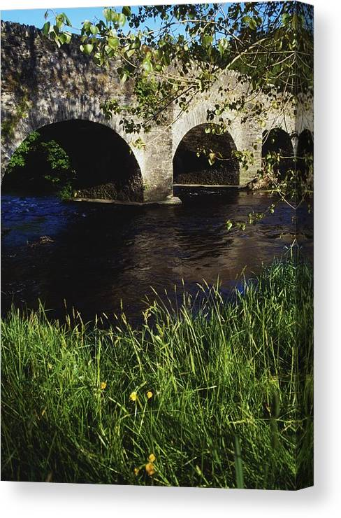 Color Image Canvas Print featuring the photograph Ireland Bridge Over Water by The Irish Image Collection