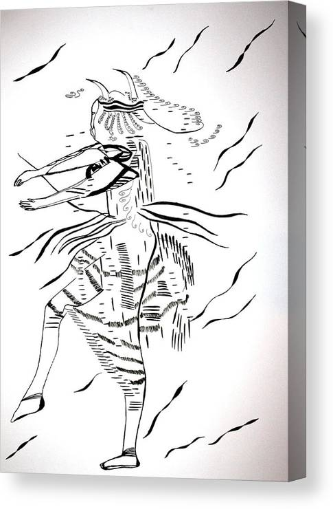 Kambala Dance - North Sudan Canvas Print