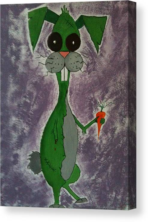Zombie Canvas Print featuring the painting Nigel by Vickie Smith