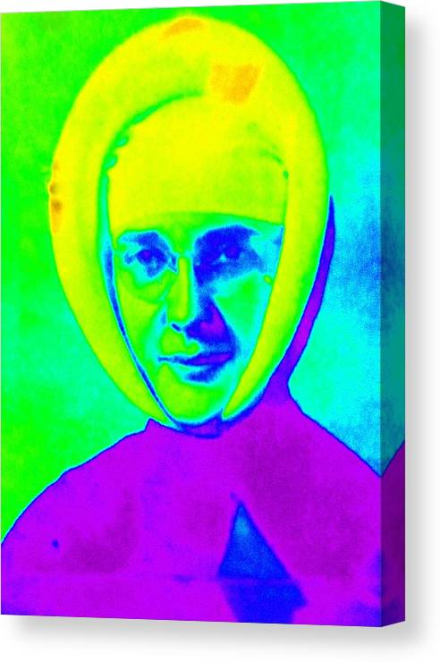Sister Canvas Print featuring the photograph Sister Marguerite Denise 1953 by Randall Weidner