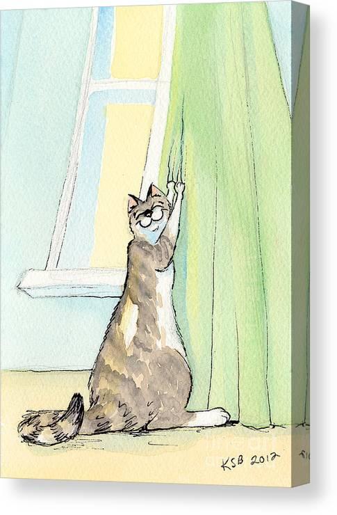 Wee Beastie Window Treatment Canvas Print
