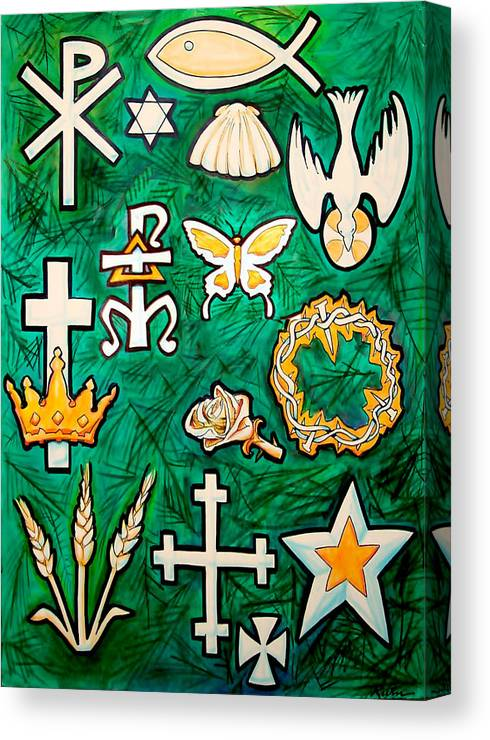Chrismons Canvas Print featuring the painting Chrismons by Kevin Middleton