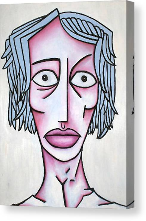 Potrait Canvas Print featuring the painting amy by Thomas Valentine