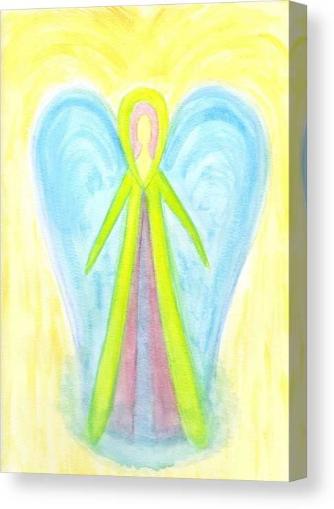 Angel Canvas Print featuring the painting Angel Of Protection by Konstadina Sadoriniou - Adhen