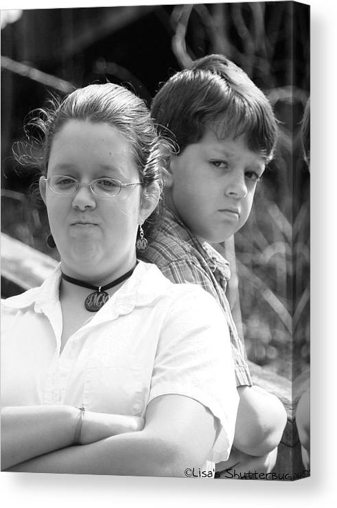 Canvas Print featuring the photograph Angry Two by Lisa Johnston