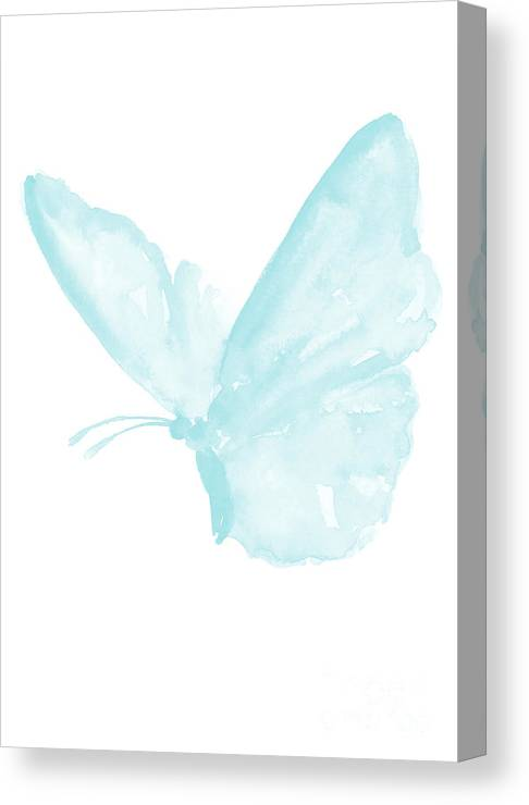 Butterfly Baby Blue Butterfly Watercolor Painting Pastel Kids Room