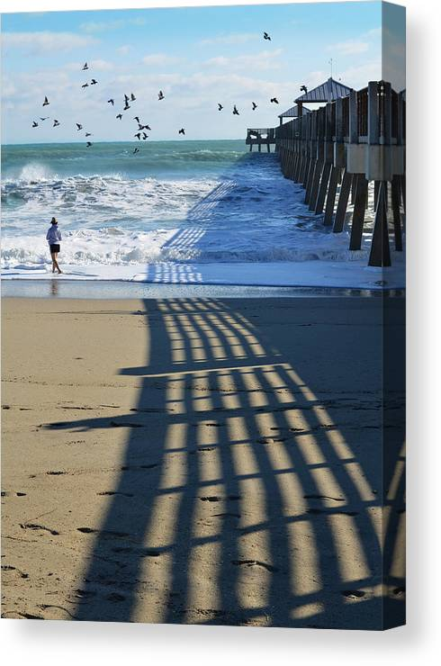 Beach Canvas Print featuring the photograph Beach Bliss by Laura Fasulo
