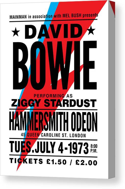 Bowie Poster Canvas Print
