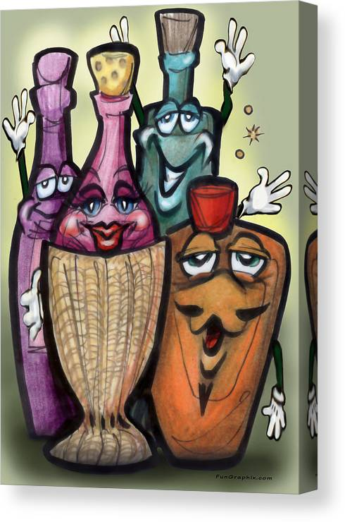 Cocktail Canvas Print featuring the greeting card Cocktails by Kevin Middleton