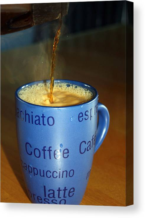 Coffee Canvas Print featuring the photograph Coffee Please by Cathy Beharriell