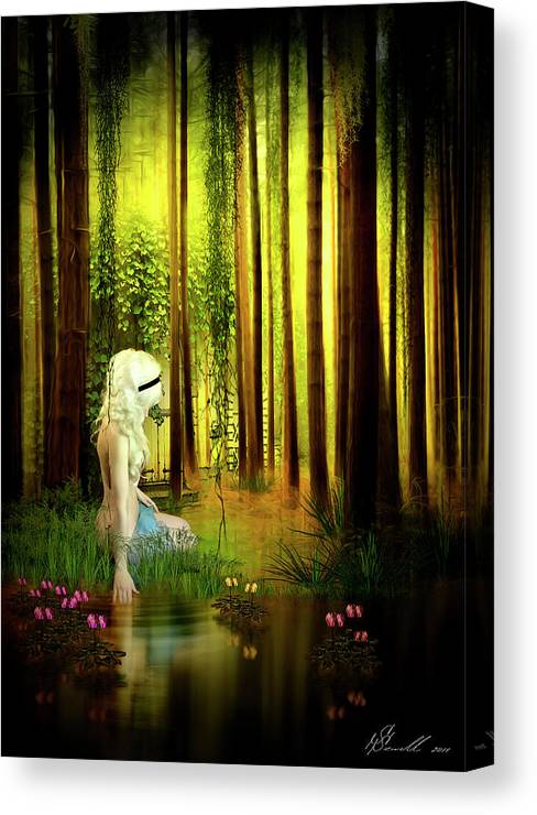 Forest Canvas Print featuring the digital art Dawn Refresh by Svetlana Sewell