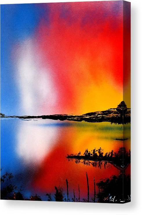 Fantasy Canvas Print featuring the painting Dawn Twilight by Nandor Molnar