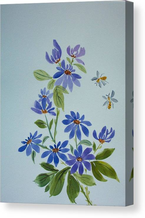 Florals Canvas Print featuring the painting Deb's Daisies by Ruth Bevan