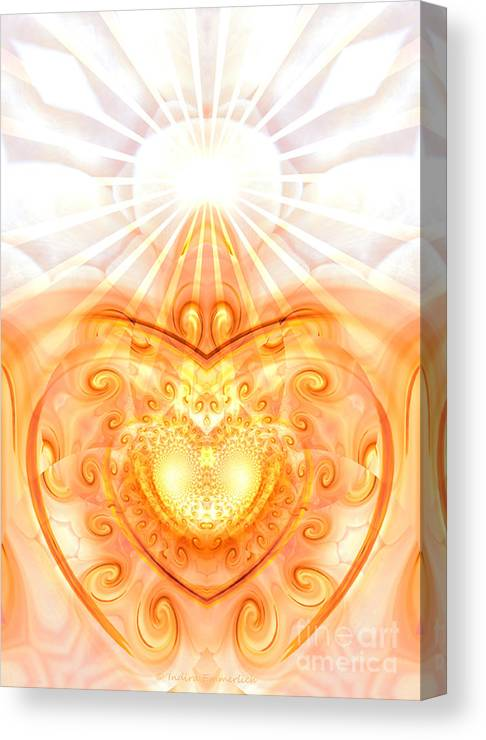 Healing Posters Canvas Print featuring the digital art Divine Love by Indira Emmerlich
