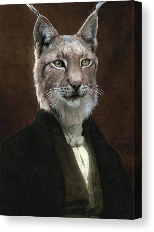 Portrait Canvas Print featuring the painting Doctor Cronus by Matt Van Gorkom