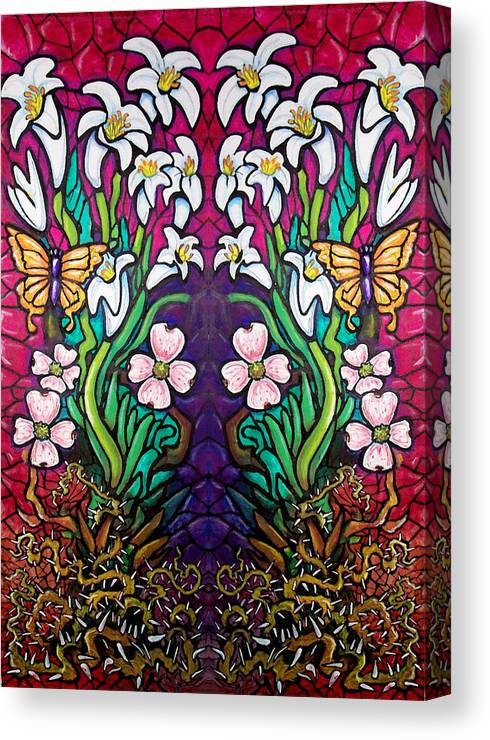 Easter Canvas Print featuring the painting Easter Banner by Kevin Middleton