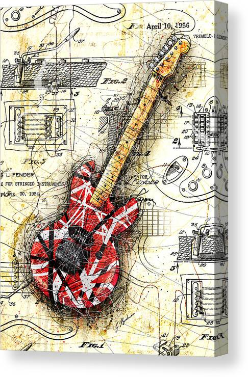 Ed's Guitar II Canvas Print on jazz bass control assembly diagrams, fender 5 string bass, fender esquire wiring, fender telecaster three-way diagram, fender 5-way switch diagram, fender wiring schematic 2 pickups 1 volume 2 tone 5-way switch, fender floyd rose, jaguar electrical diagrams, fender stratocaster wiring, fender p bass electronics diagram, fender champ wiring, fender s1 switch wiring, fender princeton tube amp layout diagrams, fender bass amps, fender tele plus wiring,
