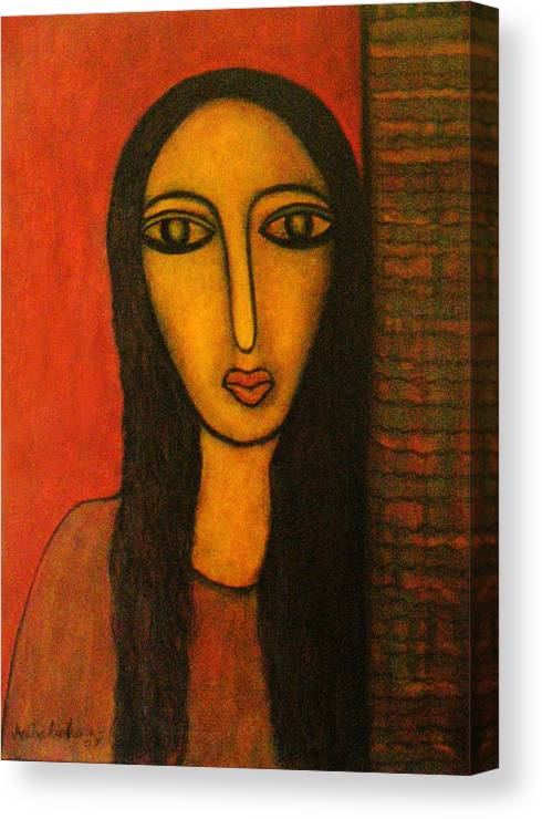 Painting Canvas Print featuring the painting Exposure by Nabakishore Chanda