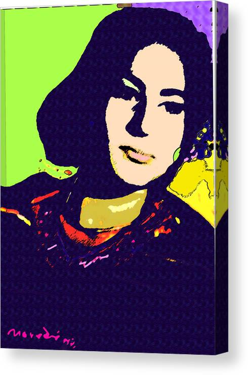 My Sister Canvas Print featuring the mixed media Fatima by Noredin Morgan