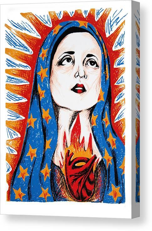 Deann Acton Canvas Print featuring the print Guadalupe by DeAnn Acton