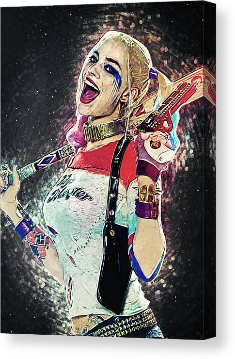 Harley Quinn Suicide Squad Movie Poster Stretched Canvas Art Print DC Comics