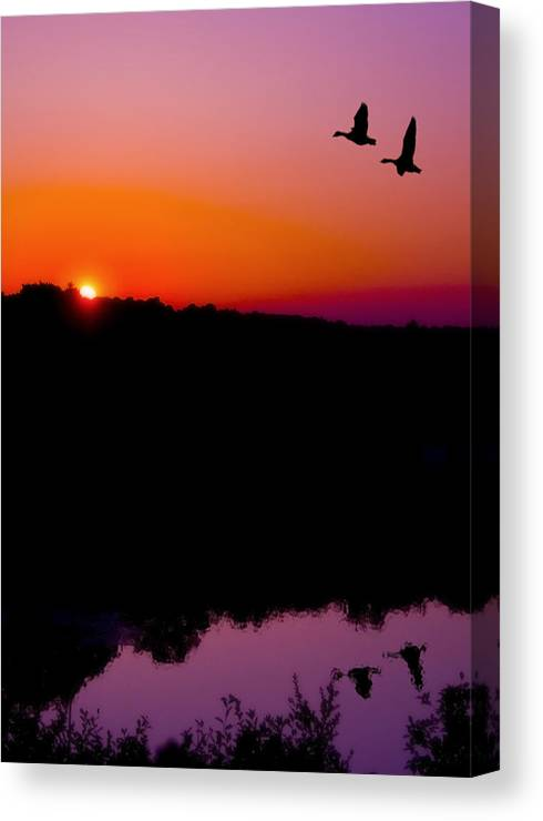 Sunset Canvas Print featuring the photograph Heading Home by Kenneth Krolikowski