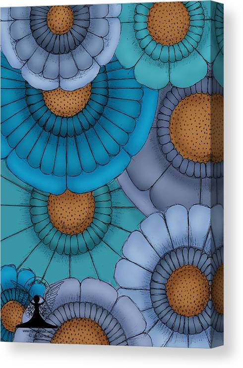 Flowers Canvas Print featuring the painting Just Flowers by Lee DePriest