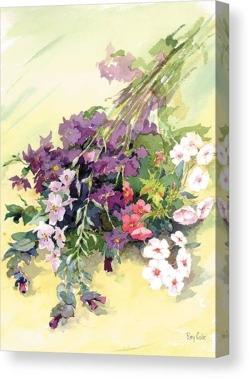 Flowers Canvas Print featuring the painting Just Flowers by Ray Cole