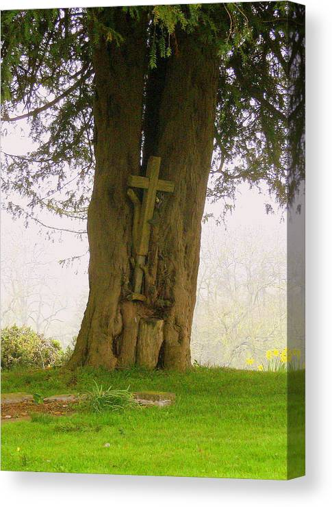 Easter Canvas Print featuring the photograph Leaning On The Cross Of Jesus by Mindy Newman