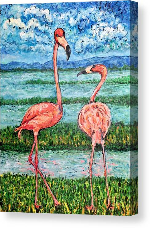 Lanscape Canvas Print featuring the painting Love Talk by Ericka Herazo