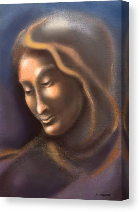 Madonna Canvas Print featuring the painting Madonna by Kevin Middleton