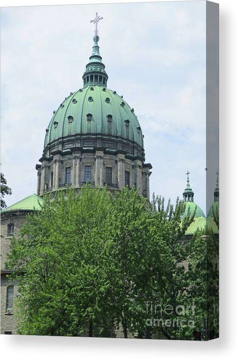 Montreal Canvas Print featuring the photograph Marie Reine Du Monde 1 by Randall Weidner