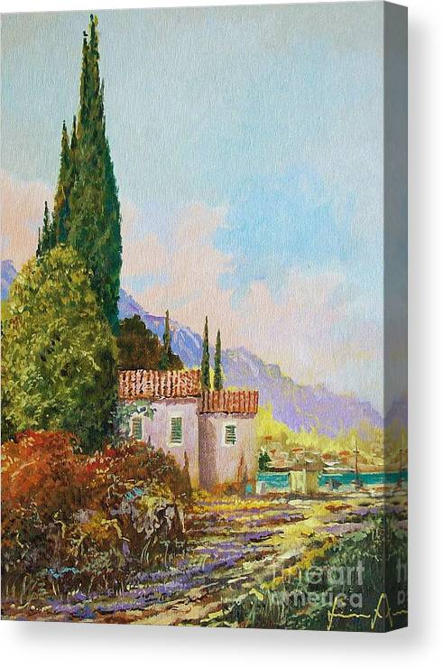 Original Painting Canvas Print featuring the painting Mediterraneo 2 by Sinisa Saratlic