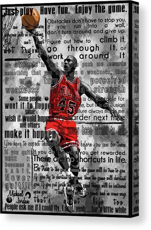 Michael Jordan Motivation Quotes Poster Canvas Art Michael Jordan Slam Dunk Poster