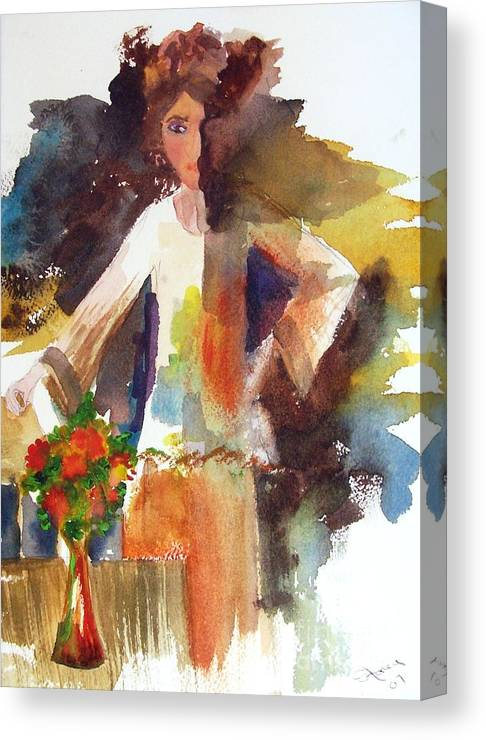Canvas Print featuring the painting Milady by Sandi Stonebraker