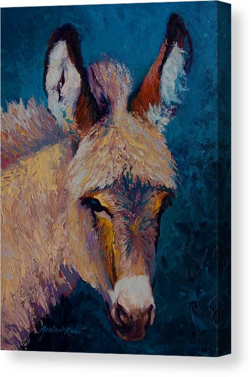 Burro Canvas Print featuring the painting Mystic by Marion Rose