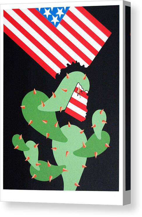 Serie Canvas Print featuring the print No Pasaran by Julio Eloy Mesa
