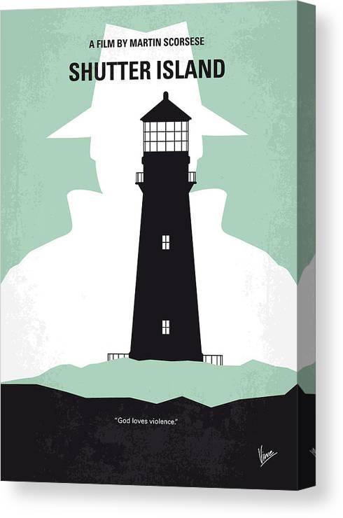 Shutter Canvas Print featuring the digital art No513 My Shutter Island Minimal Movie Poster by Chungkong Art