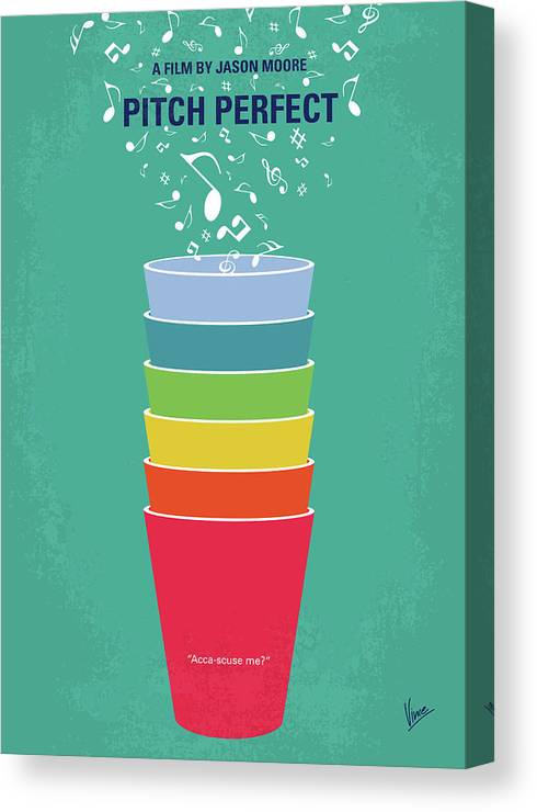No660 My Pitch Perfect Minimal Movie Poster Canvas Print